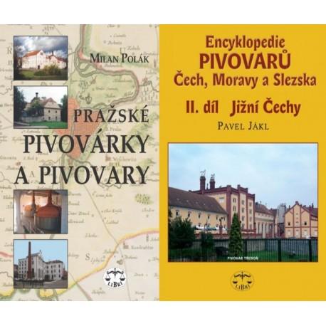 PIVOVARY - BALÍČEK (Encykl. pivovarů II. Jižní Č. + Pražské pivovárky a pivovary)