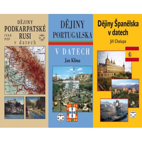 DĚJINY - BALÍČEK (Dějiny Podkarpatské Rusi v datech + Dějiny Portugalska v datech + Dějiny Španělska v datech)