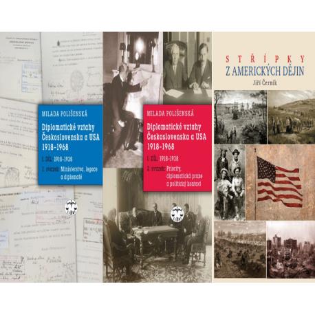 USA - BALÍČEK (Střípky z amerických dějin + Diplomatické vztahy Československa a USA 1918-1968 I. díl - 1. a 2. svazek)